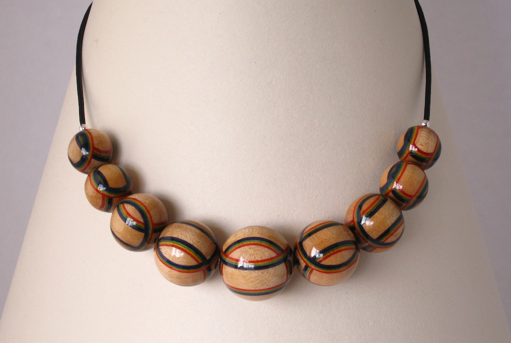 Rainbow striped Necklace