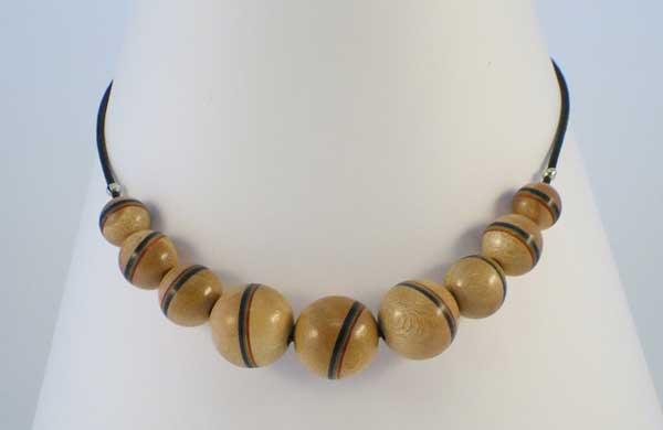 Rainbow Single Stripe Beads Necklace