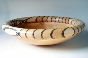 So Peaceful, Black & sycamore ringed bowl