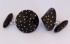 Ebony & Silver Cufflinks